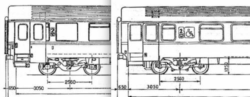 Confronto tra B e BH, lato opposto alla ritirata, parte sinistra della vettura