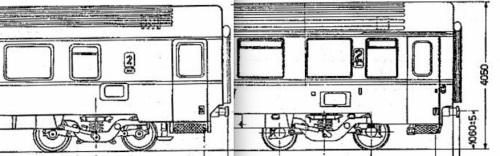 Confronto tra BH e B, lato opposto alla ritirata, parte destra della vettura