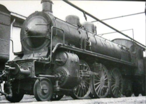 Gr.682.035 ad Alessandria nel 1955. usata come generatore di vapore, poi demolita, ultima del suo gruppo, nel 1957 – Foto  © Sartori