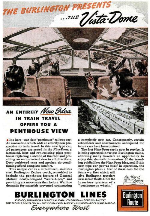 """Articolo su Popular Mechanics relativo alla prima carrozza """"Vista Dome"""""""