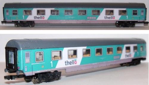 Carrozza Thello realizzata da Original Trains, foto da ebay