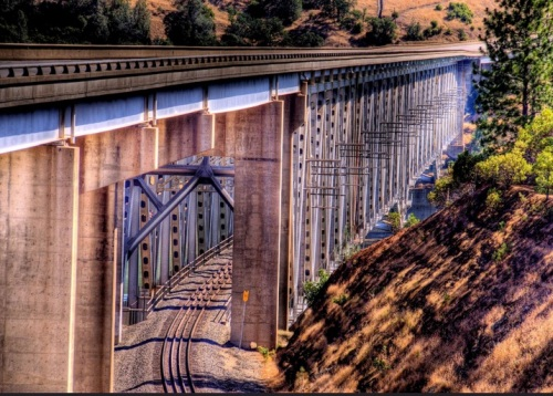West Branch Feather River Bridge, Oroville, California-Foto © Thaddeus Roan
