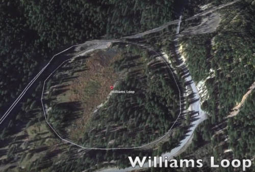 Mappa del Williams Loop, da un filmato su youtube