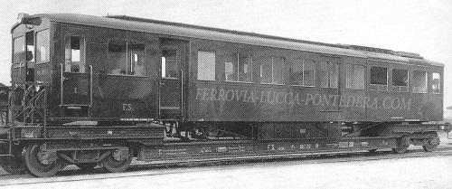 Interesante immagine della FiatNe.8.40x caricata su una carro a pianale ribassato per trasportarla, probabilmente a inizio carriera. Foto da www.ferrovia-lucca-pontedera.com