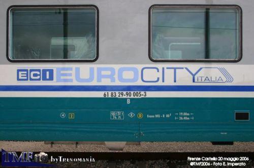 La scritta EuroCity Italia sulle fiancate - Foto © Ernesto Imperato da trenomania.org