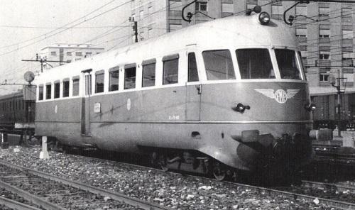 Aln56.401 a Brescia nel 1961 - foto © Mascherpa da marklinfan.com - originale da iTreni Oggi