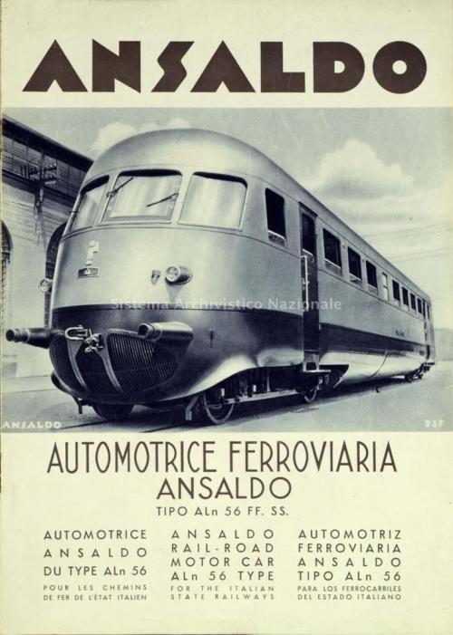Depliant Ansaldo - Foto Sistema Archivistico Nazionale, postata da pamwagner sul forum.ferrovie.it