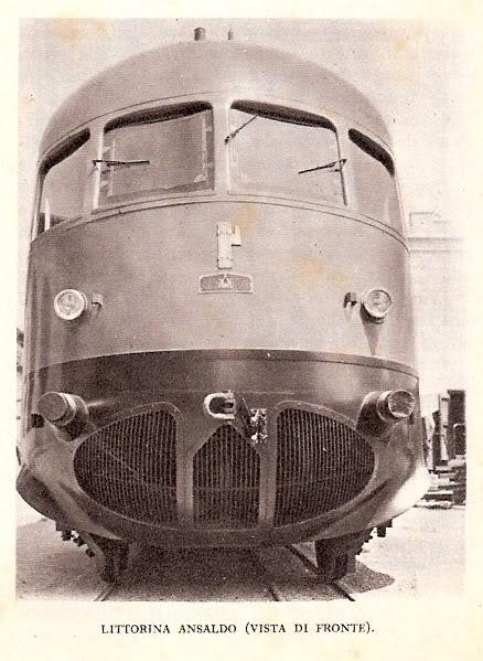 Frontale della Littorina Ansaldo, foto tratta dal forum www.ferrovie.it