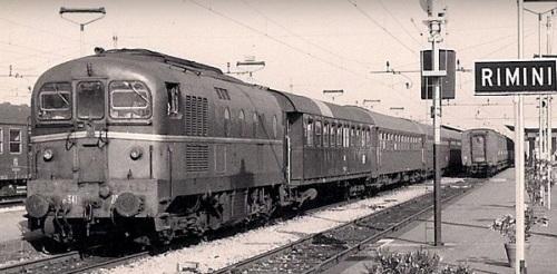 L'Adria Express nel 1974. Foto © Bruno Cividini da ilPortaleDeiTreni