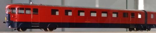 """Modello H0 del primo ATR 100 delle Ferrovie dello Stato allo """"Hobby Model Expo"""" del 2013, nello stand del Gruppo Modellisti Romani. Foto © Friedrichstrasse da wikipedia"""