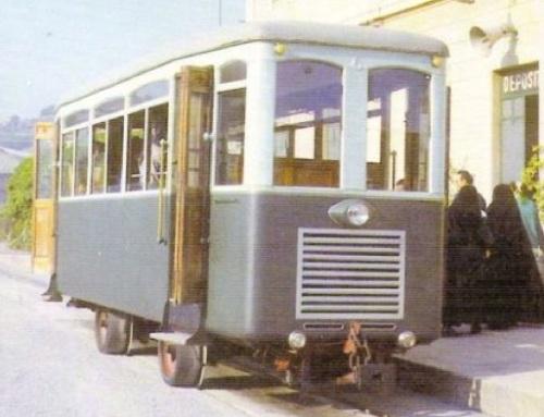 Automotrice 6 della Atoguidovia della Madona della Guardia nel 1966 - si notano bene le ruote in gomma con i bordini - Foto © Paolo Gregoris tratta fa marklinfan