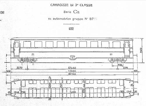 Carrozza Cz 40.002, ex automotrice 8701 - grazie a Pietro Merlo