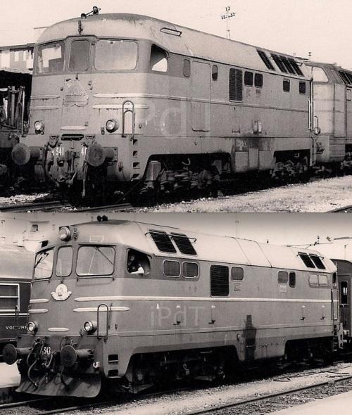 Confronto tra la D.341.4001 (in alto) e D.342.4007 (in basso) in due immagini © Bruno Cividini da IlPortaleDeitreni