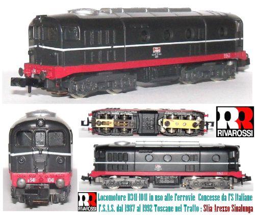 Modello Rivarossi della FSAS D.341. Immagine tratta da ebay.