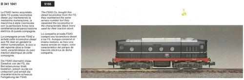 D.341 FSAS, dal Catalogo Rivarossi 1992 pag.136