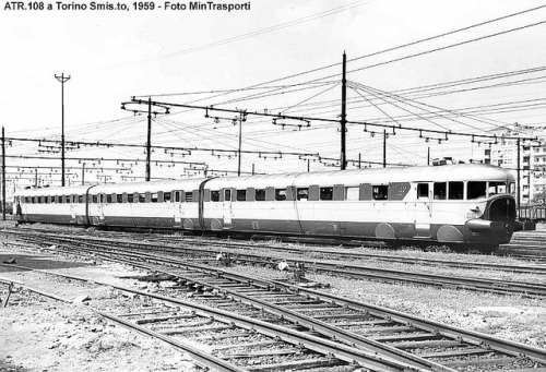 Trebello a Torino nel 1959 - Foto Ministero dei Trasporti
