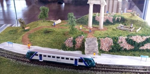 Diorama ad ambientazione archeologica per il concorso Aligi Losio.