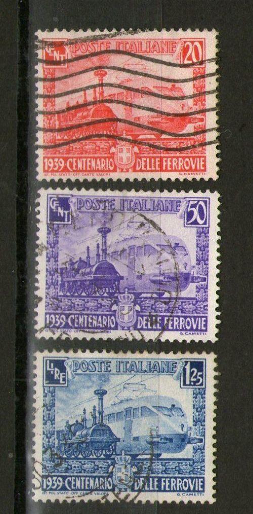 Francobolli del Centenario delle Ferovie Italiane