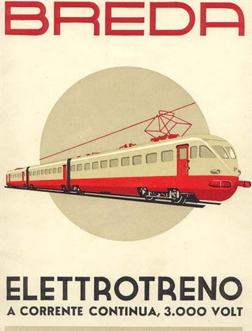 Manifesto Breda reclamizzante l'ETR 200 - Dall'Archivio Claudio Pedrazzini de trainsimsicilia.net