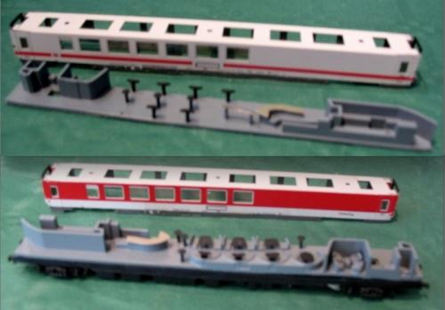 Wrkmz delle DB, in versione ICE e Autozug