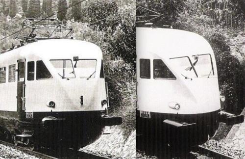 Due immagini dello specchietto per il controllo del pantografo - dettagli da foto FS