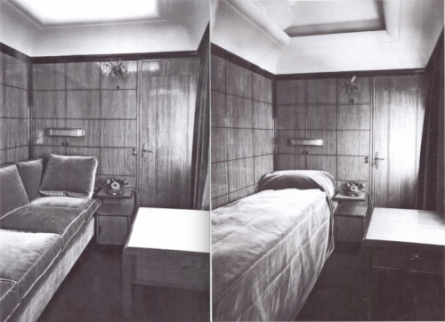 Interno dell'ATS: il salottino (a sinistra) si trasformava in camera da letto (a destra). Foto FIAT - Grazie a Giacomo Spinelli