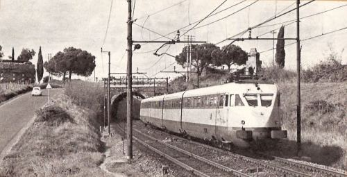 ETR.220 Roma-Napoli nel 1969