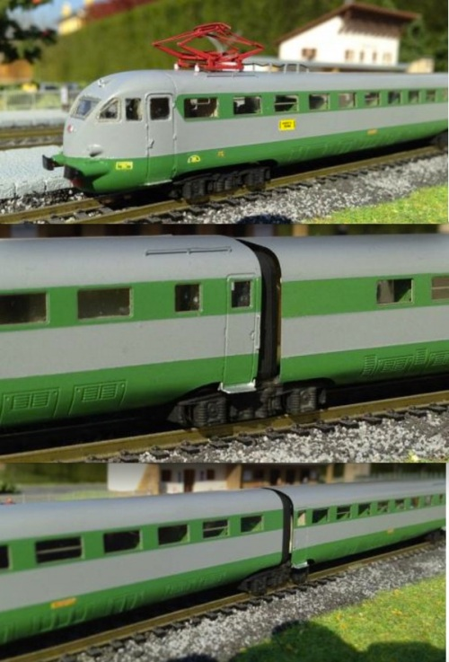 Varie viste dell'ETR.232 di Trenomodel, dal sito del produttore