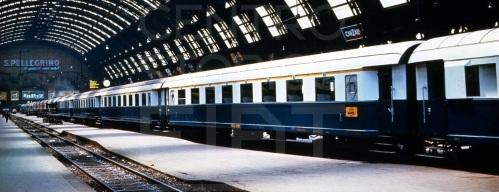 Treno Azzurro a Milano Centrale - Foto tratta dal profilo Facebook del Centro Storico Fiat