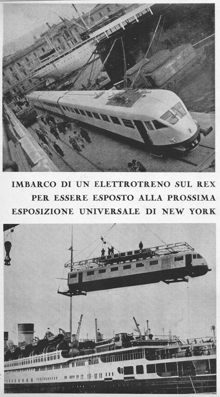 """Imbarco sul Rex - Da Illustrazione Italiana del 31/7/1938 - tratto da """"Le foto di Corrado"""""""