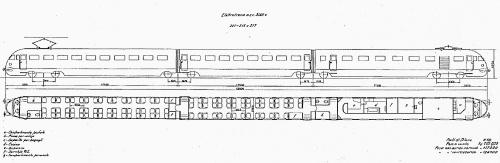 Schema ETR.200 di seconda serie, dall'Album FS degli anni '50 - Grazie a Gigi Voltan