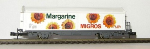 "Carro Hbis Roco in scala N - Migros ""Margarine"""""