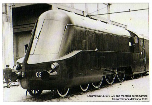 La 691.026 con il mantello aerodinamico