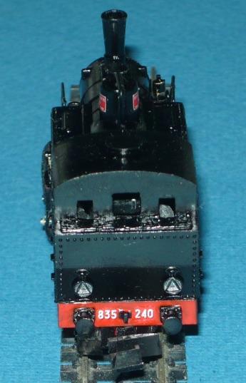 Vista posteriore della 835