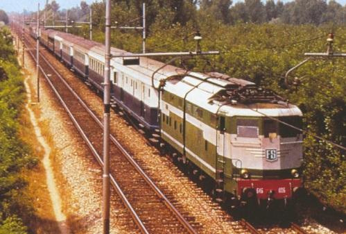 R33 sulla Linea Milano-Bologna nel 1960 - Foto OM-Fiat