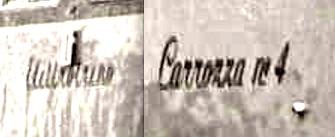 Le scritte in corsivo sulle fiancate.