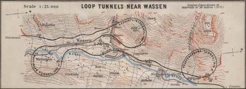 Una vecchia carta topografica ci introduce al percorso.