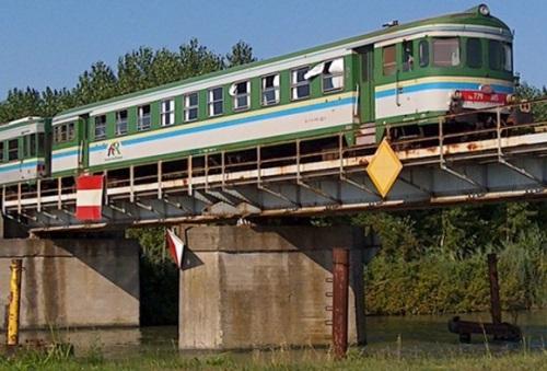 Ln779.305 con logo FER, spinta da una Aln 663 nel 2004 presso Migliarino - Foto © Jacopo Fioravanti da trenomanai