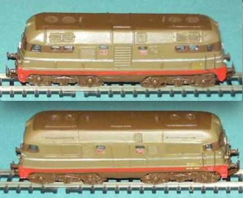 D342 Ansaldo di Gigi Voltan, nelle versioni normale (sopra) e potenziata (sotto)