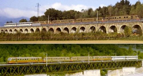 Due immagini della Freccia della Versilia nel 1988 - Foto © Franco Pepe da littorina.net