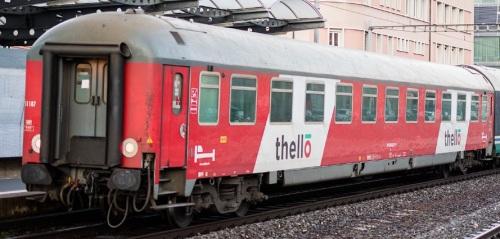 UIC-x Tipo 1975 nella nuova livrea Thello nel 2016 - Foto © Semaphore01 dal forum www.3rails.fr