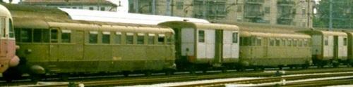 Curiosa sequenza di due coppie LDn 32 + LDn24.2xx a Castelfranco Veneto nel 1975, Foto © Werner Hardmeier da http://www.drehscheibe-online.de/