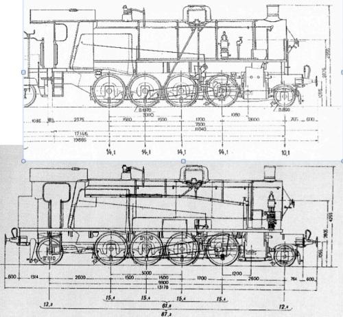 Schema della 740, in alto, e della 940, in basso.
