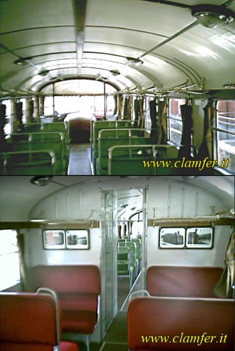 ALn 56, interni. In alto 3a classe, in basso 1a classe. Da www.clamfer.it