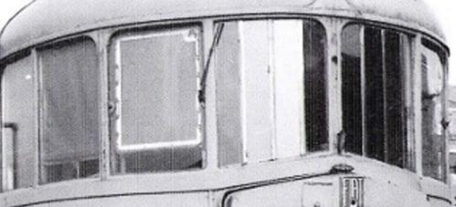 Finestratura frontale delle Littorine FIAT