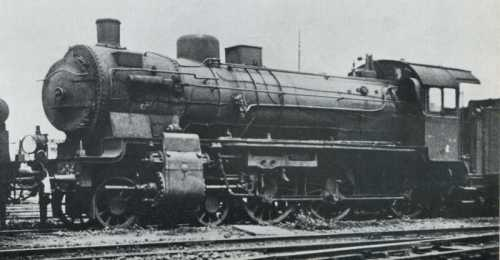 """L'unità """"2432-Hannover"""" (Henschel 1914) ripresa aTorino nel 1920, poco dopo l'arrivo in Italia, in attesa di essere classificata come 675 006. (foto FS)"""