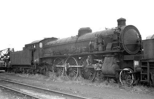 La 691.022 tristemente accantonata a Verona nel Luglio 1963 - Foto Renato Cesa De marchi da http://www.ipdt-community.it/