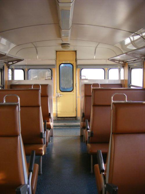 Interno dei rimorchi B68 - Foto © Marco Nattan da trenomania