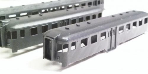 Ln 664 (in secondo piano) e Le 640 (in primo piano), stampate in 3D