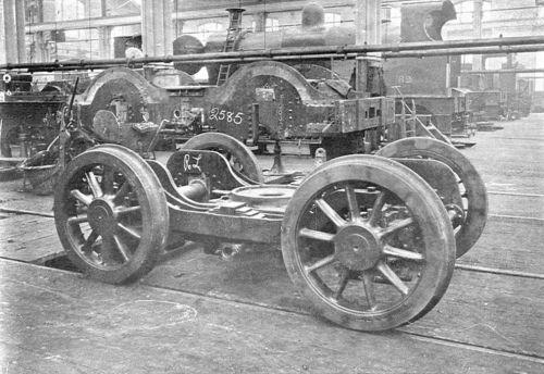 Carrello anteriore di una locomotiva inglese del 1907, da wikipedia